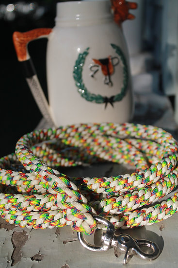 Knotted Reins - white/rainbow