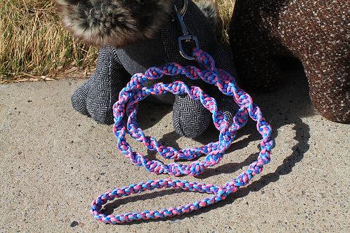 Pink & blue twisted cobra leash