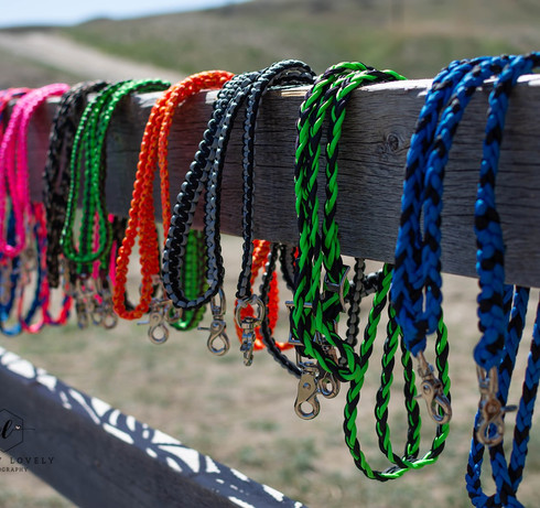 Laye's Creations handmade horse riding reins for english and western riders, paracord and