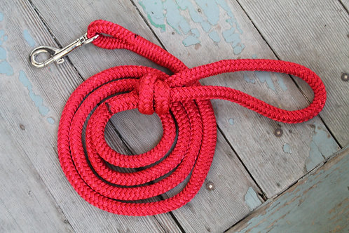 Rope pet leash, red