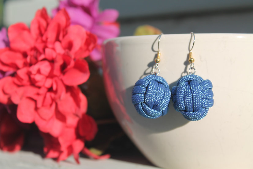 M.F. Earrings in royal blue
