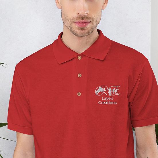 Embroidered Polo Shirt - white logo