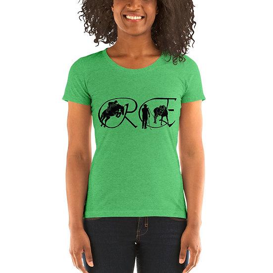 Ladies' short sleeve t-shirt - black logo only