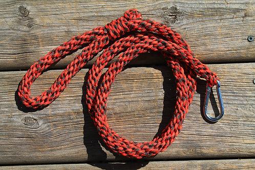 Orange & grey Kumihimo leash
