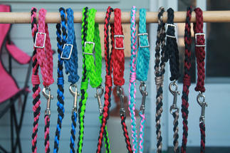 Hand braided paracord pet leash and collar sets