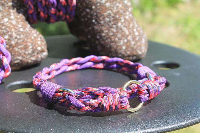 Braided paracord martingale pet collar