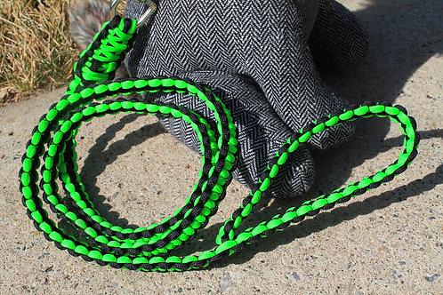 Lime & black cobra leash