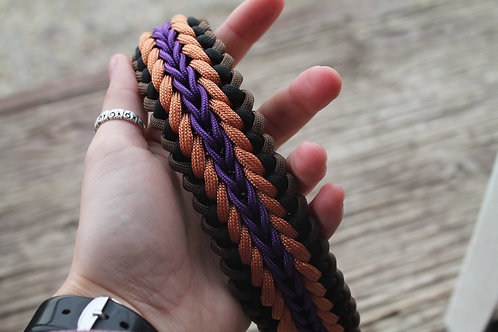 Med. weaved paracord pet collar