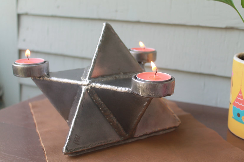 Merkabah tealight candle holder
