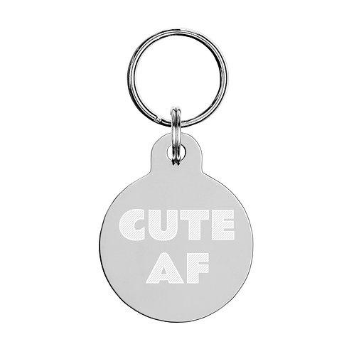 Cute AF - pet ID tag