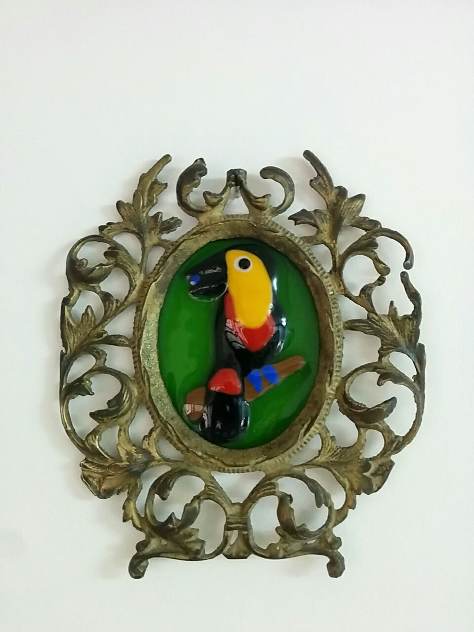 Toucan in Silver Frame