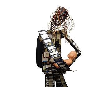 Digital Madonna with Child - Beth Erez c