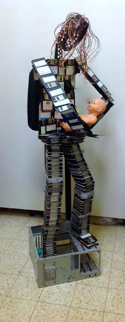 Digital Madonna with Child