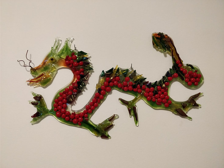 Red-Green Chinese Dragon