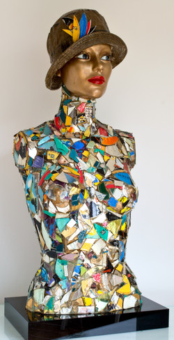 Digital Mosaic Woman