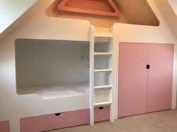 Children's bunk bed with storage