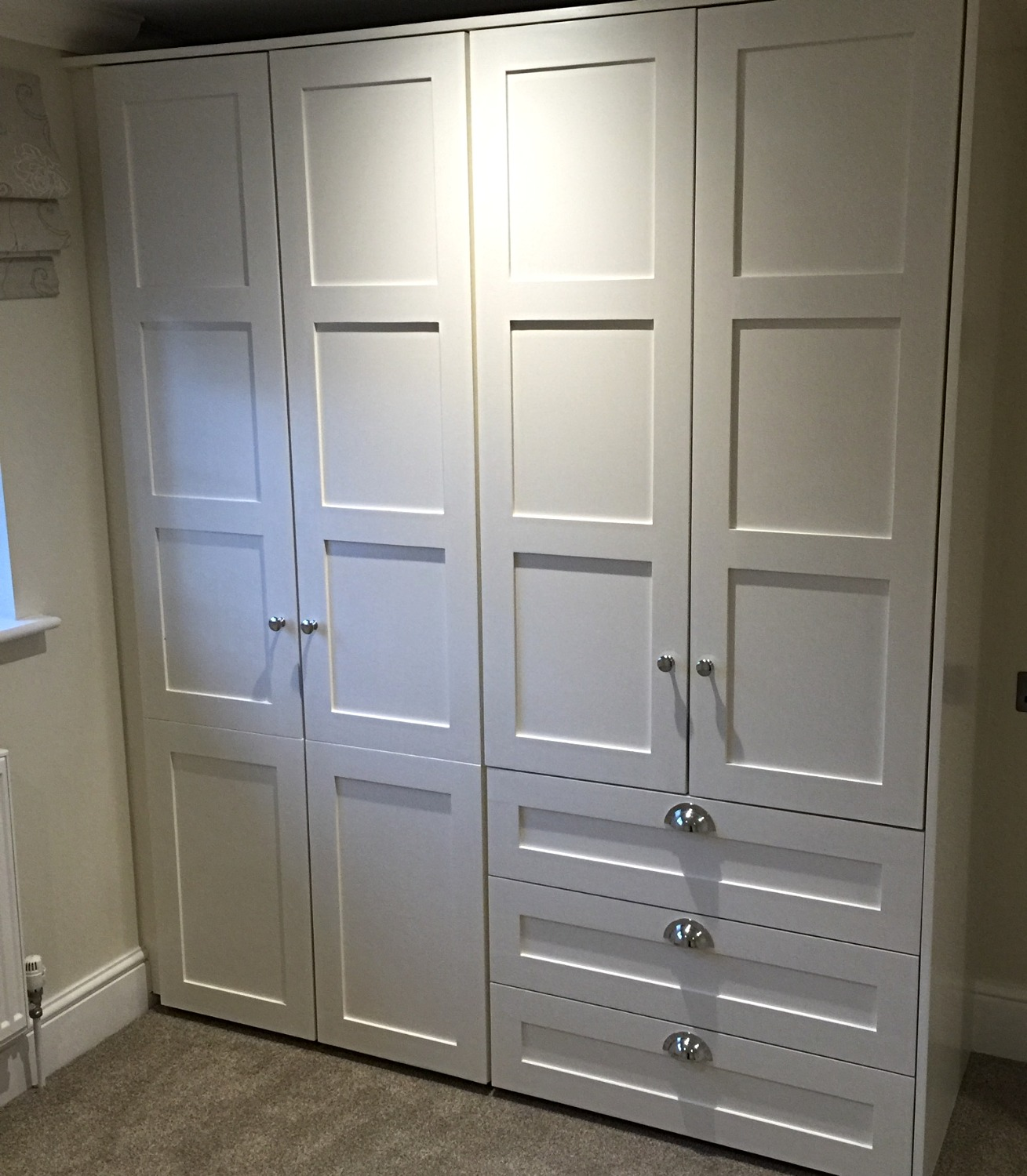 Bespoke panel effect wardrobes