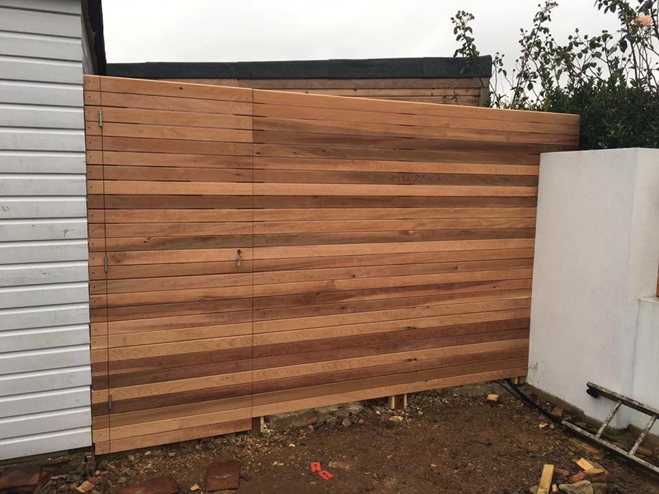 Cedar fence with hidden door