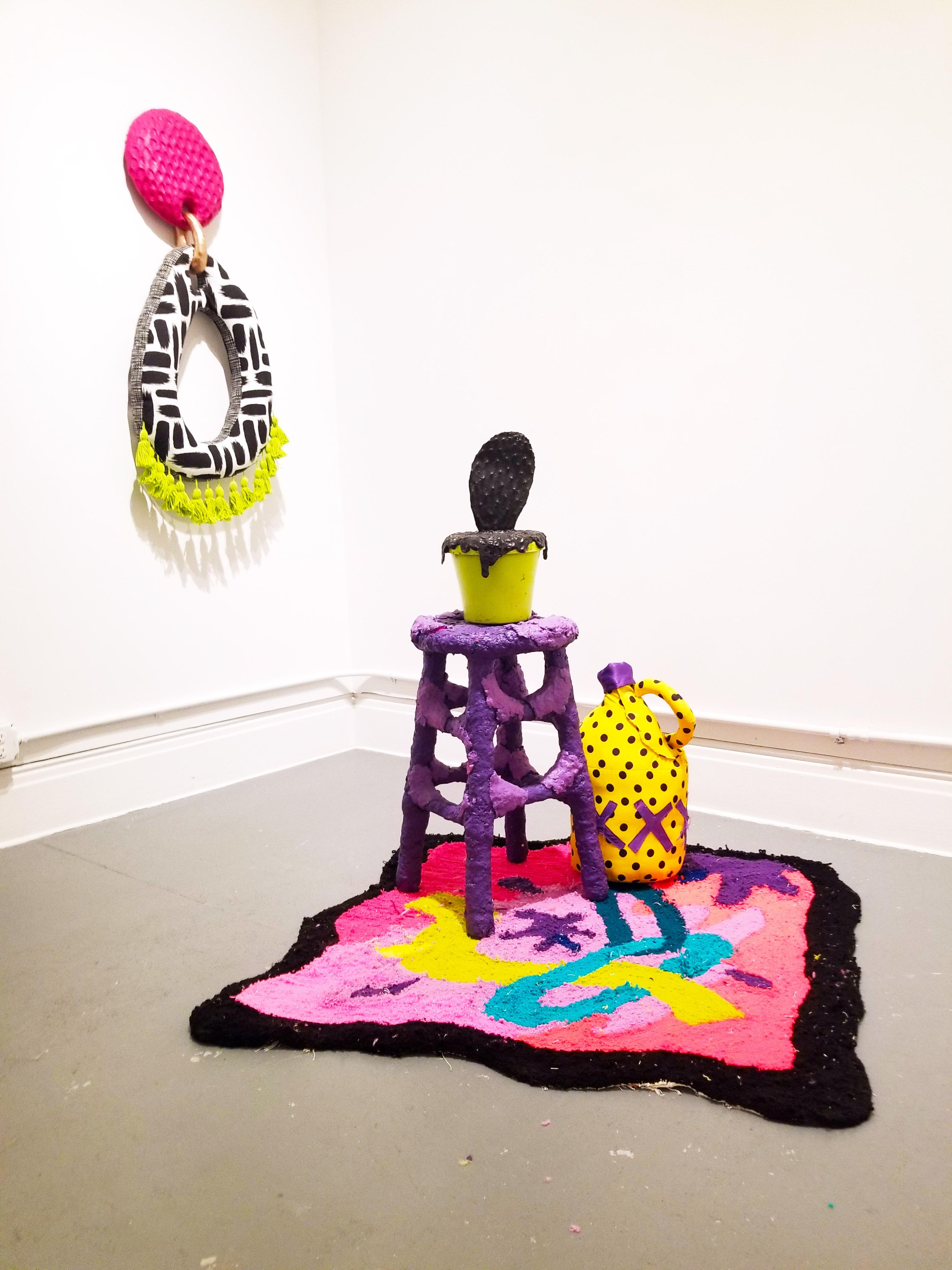 stool and rug