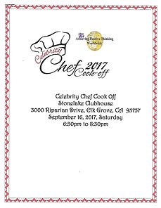 Celebrity Chef Cook Off Program 2017
