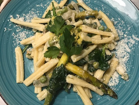 Casarecce with Asparagus and Peas