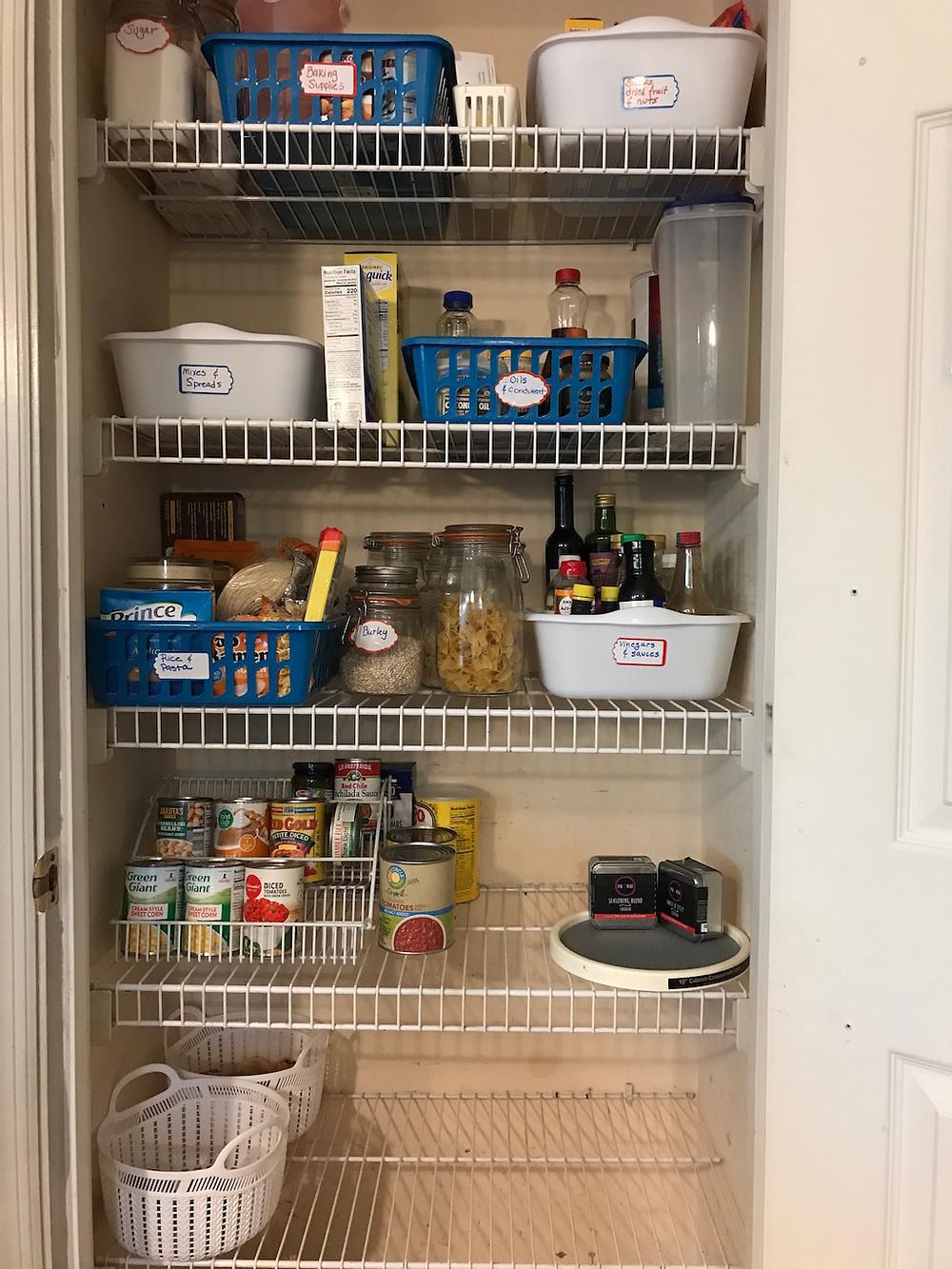 a clean kitchen pantry