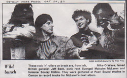 Mico Wave, Jeff Beck, Malcom McLaren, Bootsy Collins - Press Clipping