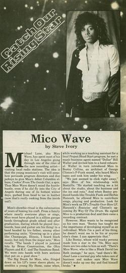 Mico Wave Press Clipping
