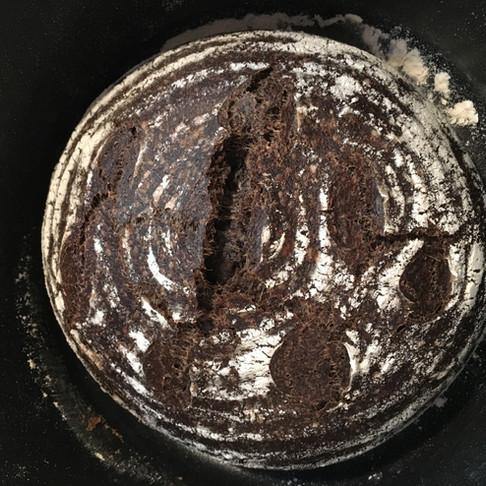How to Make Sourdough Bread with Coffee Flour (Vegan Recipe)