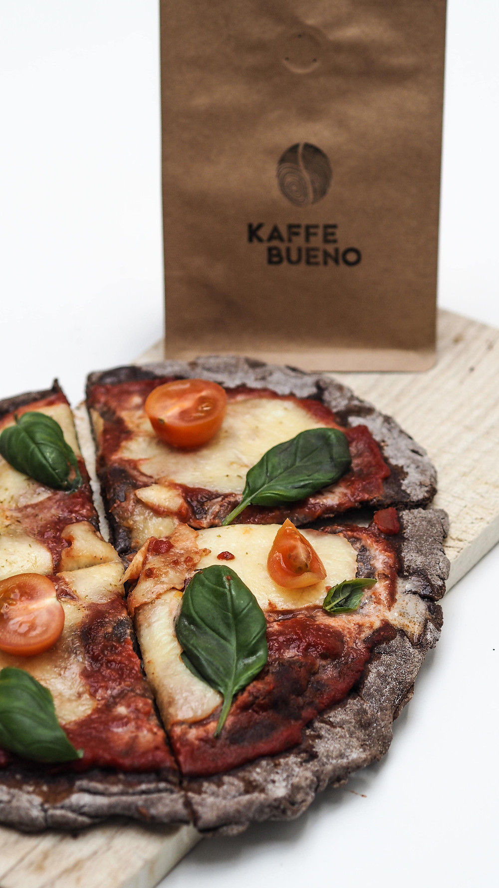 Pizza with Gluten-free Coffee Flour and Potato Crust