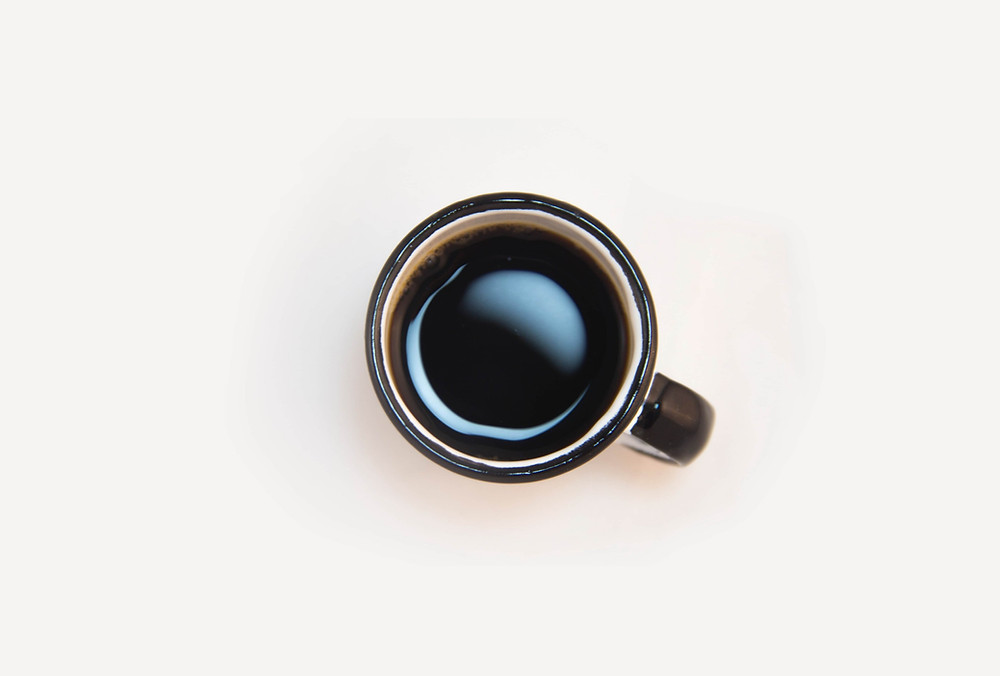 A cup of brewed coffee at home