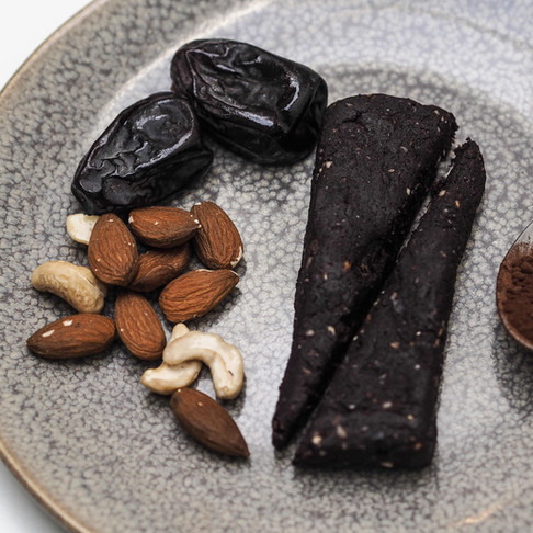 Coffee Raw Bars with Cocoa & Nuts