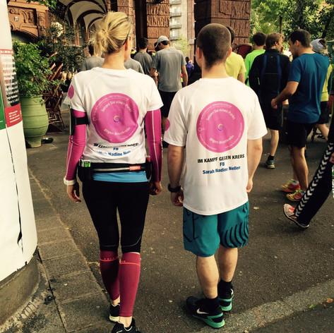Mannheim-Marathon mit meinem Laufpartner 2017