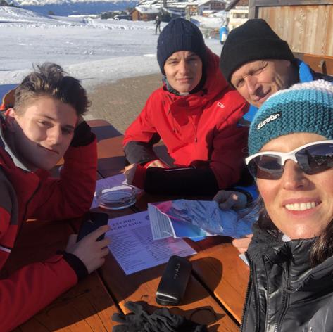 Meine Jungs und mein Mann Skiurlaub-kurz danach kam Corona
