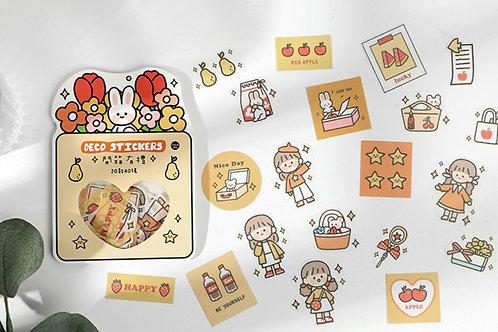 cute sticker flakes