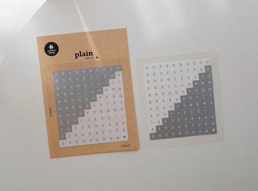 suatelier stickers plain deco Alphabet