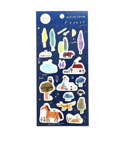 miki tamura forest sticker