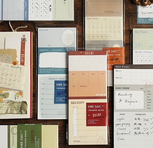 Functional Planner Tracker Sheets Pad