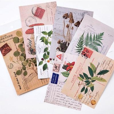 Plants Illustration Postcard stickers