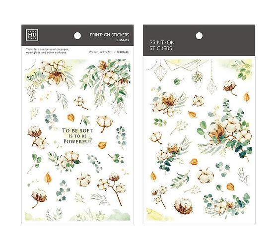 MU Print on stickers 144 flower