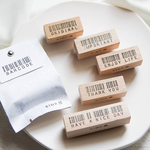 SIMP Barcode Rubber Stamps (Choose Design)