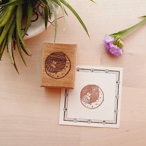 ElsieWithLove - Moon Series M02 Rubber Stamp