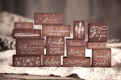Handwritten Rubber Stamp Sets (Choose Set)