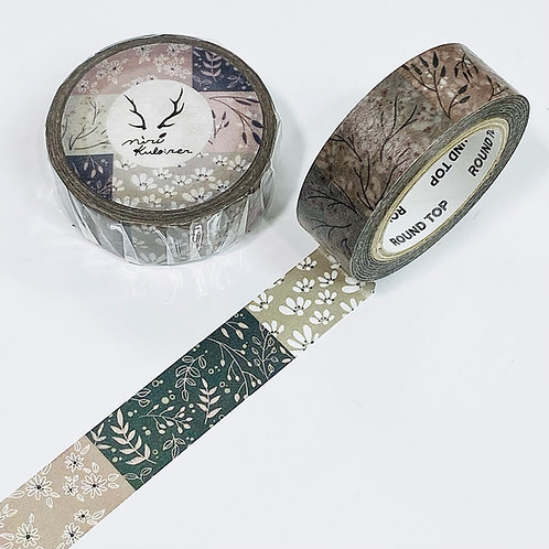 Round Top x MiriKulo:rer Washi Tape - Small Flowers
