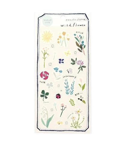 miki tamura wild flower sticker