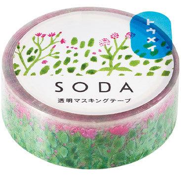 SODA Transparent Masking Tape - Plant CMT15-003