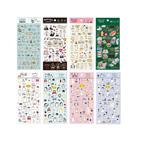 Cute Lessons Sticker Sheet - Mind Wave