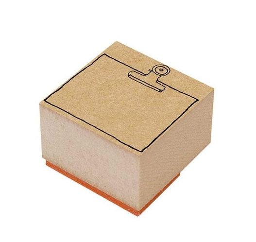 binder clip rubber stamp