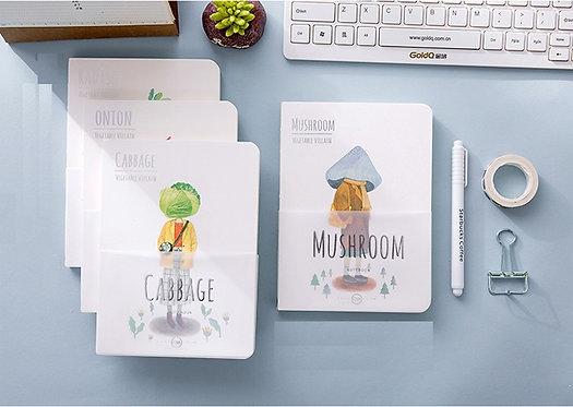 Vegetable Villains Blank Notebooks - A5 size