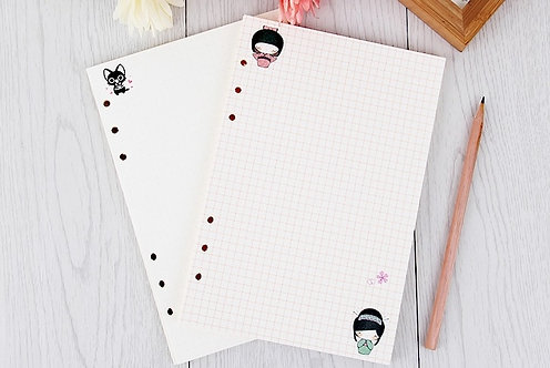 A5 Variety Planner Inserts (6 holes)